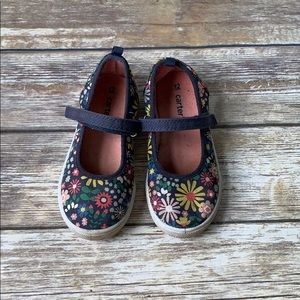 Carter's Floral Mary Jane Tennis Shoes